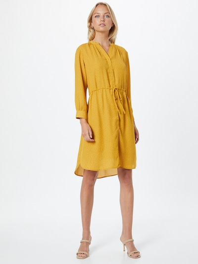 SELECTED FEMME Shirt Dress 'Damina' in Yellow / White, View model