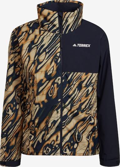 adidas Terrex Outdoorjacke in beige / dunkelblau / braun, Produktansicht