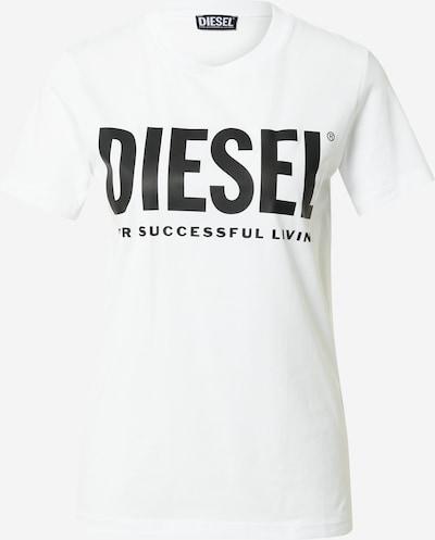 DIESEL T-Shirt in schwarz / offwhite, Produktansicht