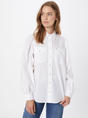 Camicia da donna di Tommy Jeans in bianco