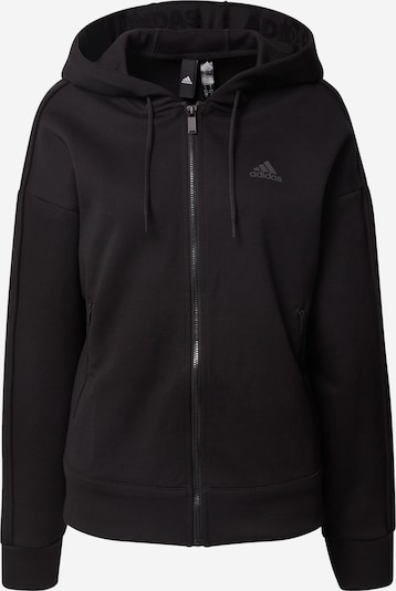 ADIDAS PERFORMANCE Sports sweat jacket in black, Item view