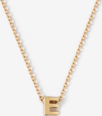 Orelia Chaîne 'Initial E' en or, Vue avec produit