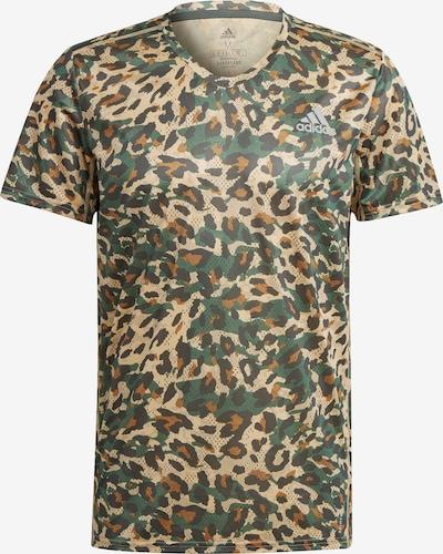 ADIDAS PERFORMANCE T-Shirt in beige / braun / grün / schwarz, Produktansicht