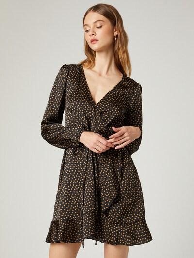 Guido Maria Kretschmer Collection Kleid 'Leonie' in karamell / schwarz, Modelansicht