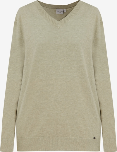 Finn Flare Pullover in grünmeliert, Produktansicht