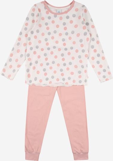 SANETTA Pijama en gris claro / rosa pastel / offwhite, Vista del producto