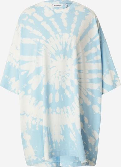 WEEKDAY T-shirt oversize en bleu clair / blanc, Vue avec produit