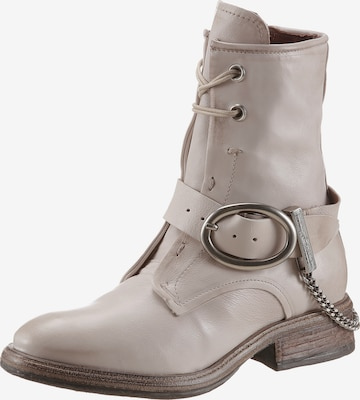 A.S.98 Lace-Up Boots in White