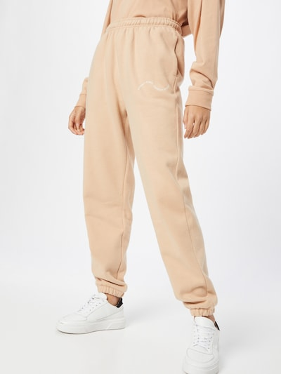 Pantaloni 'EASY GOING' Comfort Studio by Catwalk Junkie pe bej, Vizualizare model