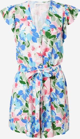 La petite étoile Jumpsuit en azul / verde hierba / rosa claro / blanco, Vista del producto