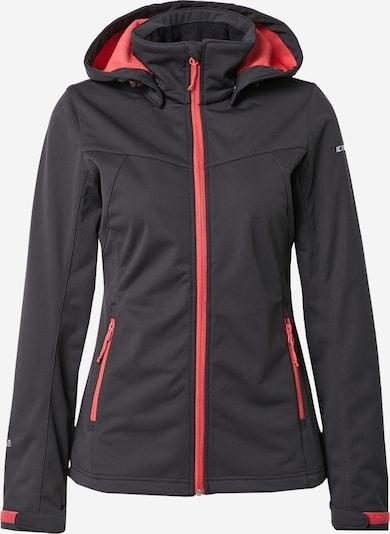 ICEPEAK Softshelljacke 'Boise' in grau / rot / schwarz, Produktansicht
