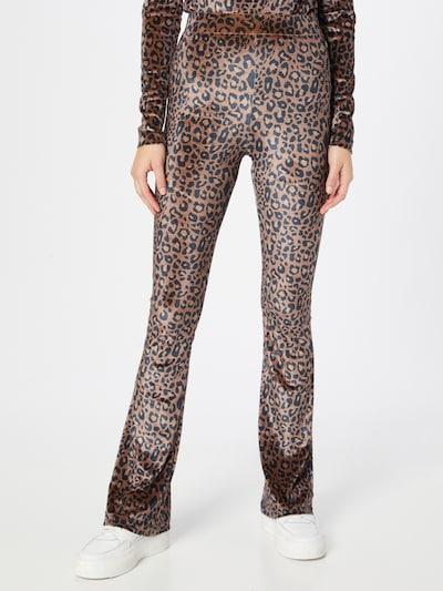 Colourful Rebel Pants 'Jolie' in Brown / Light brown / Black, View model