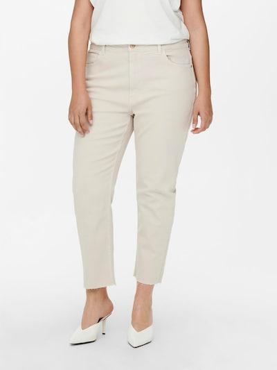 ONLY Carmakoma Jeans 'Mily' in ecru, Modelansicht