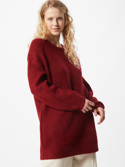 ABOUT YOU Oversized trui 'Mina' in de kleur Rood / Bordeaux, Modelweergave
