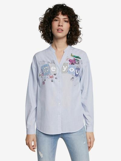 Desigual Bluse in hellblau / mischfarben, Modelansicht