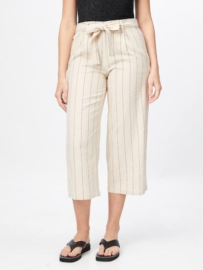 VILA Pantalon à pince 'KULIO' en crème / gris, Vue avec modèle