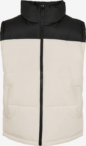 Urban Classics Big & Tall Vest 'Block Puffer Vest', värv valge