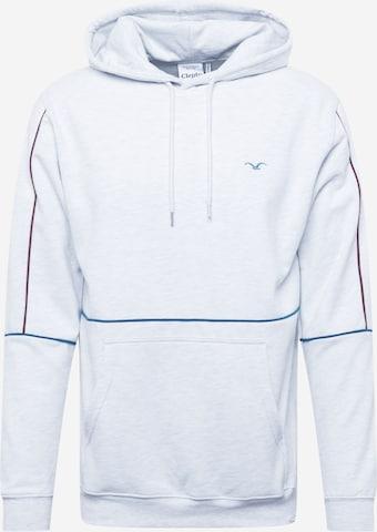 Cleptomanicx Sweatshirt 'Seven O Pipe' in Grau