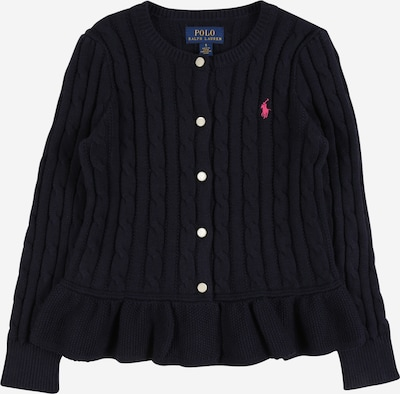 POLO RALPH LAUREN Sweatjacken 'PEPLUM' in navy / pink, Produktansicht