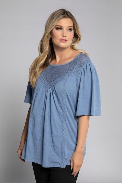 Ulla Popken Bluse in himmelblau, Modelansicht