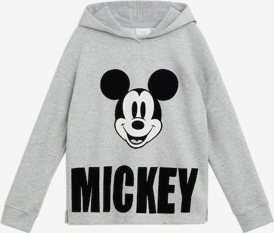 MANGO KIDS Sweatshirt 'WORLD' in graumeliert / schwarz / weiß, Produktansicht