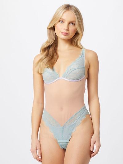 Dora Larsen Body en piel / azul claro / rosa: Vista frontal