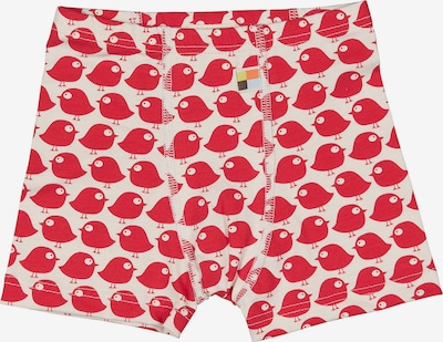 loud + proud Boxershorts in rot / weiß, Produktansicht