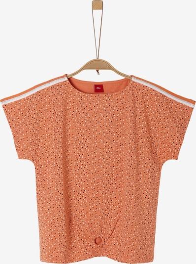 s.Oliver Shirt in koralle / schwarz / silber / weiß, Produktansicht