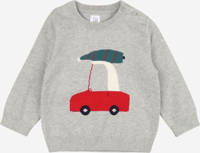 GAP Pullover 'INTAR' in grau / petrol / rot / naturweiß, Produktansicht