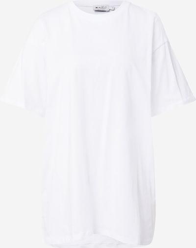 NA-KD Široka majica | bela barva, Prikaz izdelka