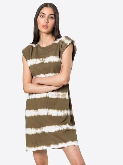 ONLY Summer dress 'PERNILLE' in Dark green / White, View model