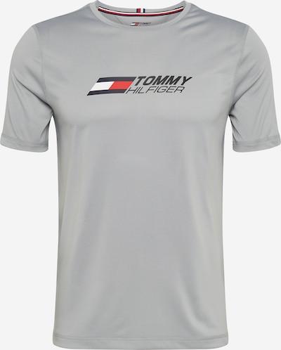 Tommy Sport Camiseta funcional 'ESSENTIALS' en azul noche / gris plateado / rojo / blanco, Vista del producto