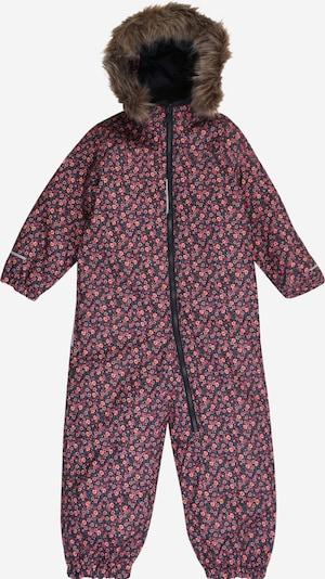 NAME IT Schneeanzug in navy / nachtblau / braun / pastellorange / pitaya, Produktansicht