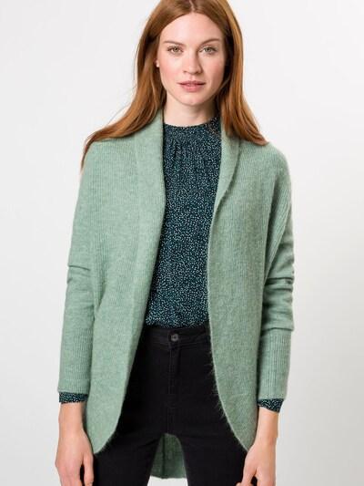 zero Strickjacke in pastellgrün, Modelansicht
