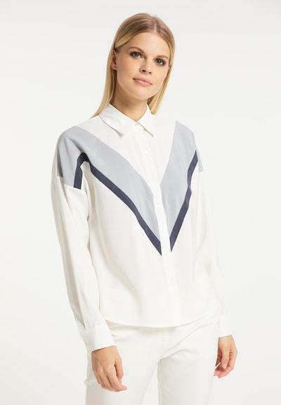 RISA Bluse in grau / schwarz / weiß, Modelansicht
