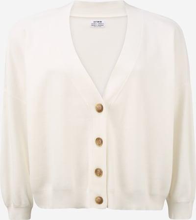 Cotton On Curve Cardigan 'CHLOE' en blanc naturel, Vue avec produit