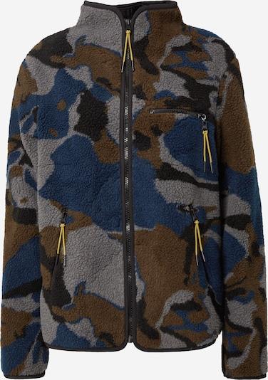 Global Funk Fleecejacke 'Barber' in blau / braun / grau / schwarz, Produktansicht