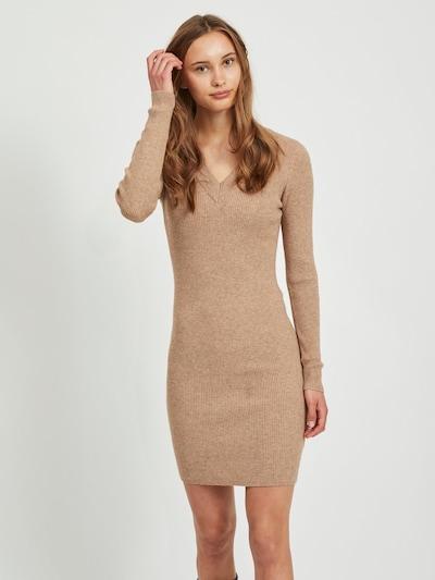 OBJECT Gebreide jurk in de kleur Camel, Modelweergave