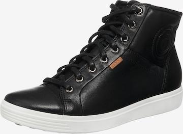 ECCO High-Top Sneakers in Black