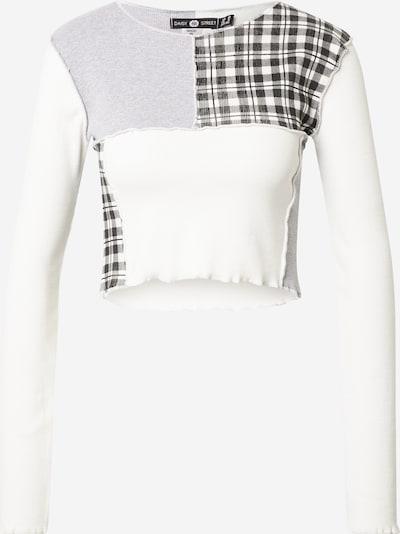 Daisy Street T-shirt i ljusgrå / svart / vit, Produktvy