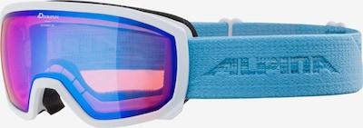 Alpina Skibrille 'Scarabeo' in hellblau / dunkellila / weiß, Produktansicht