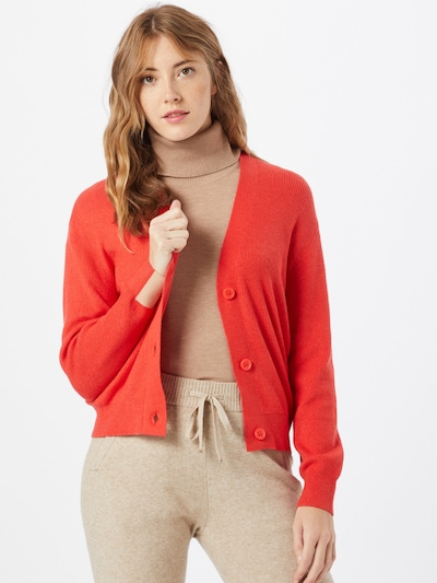 STREET ONE Strickjacke in rot: Frontalansicht