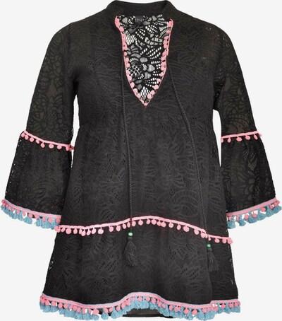 Yoek Tunika ' Lace ' in aqua / pink / schwarz, Produktansicht