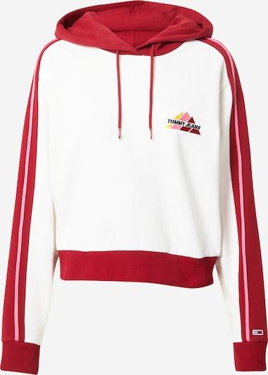 Tommy Jeans Pulover u crvena / bijela, Pregled proizvoda