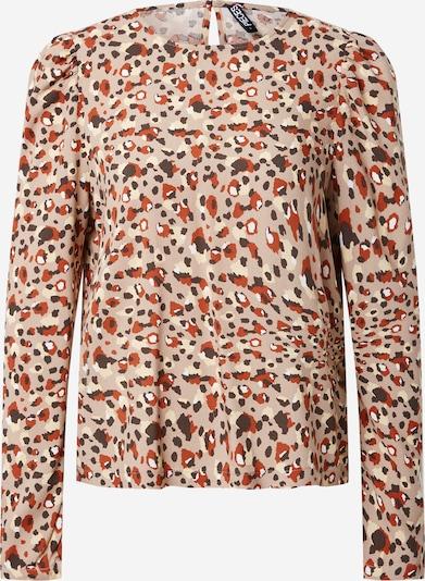 PIECES Bluse 'CARLY' in beige / rostbraun / hellbraun / dunkelbraun / weiß, Produktansicht