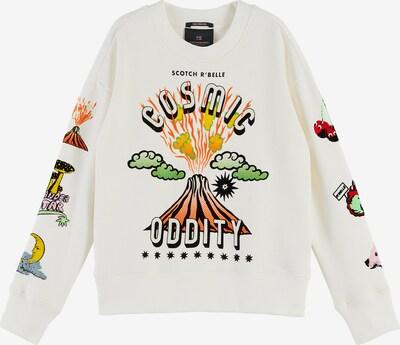 SCOTCH & SODA Sweatshirt in mischfarben / weiß, Produktansicht