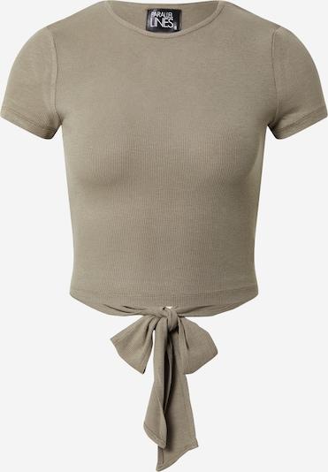 Parallel Lines Shirt in oliv, Produktansicht