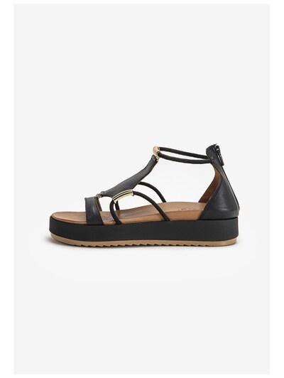 INUOVO Sandale in gold / schwarz, Produktansicht