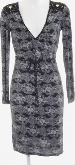 Blutsschwester Shirtkleid in S in hellgrau / schwarz / weiß, Produktansicht