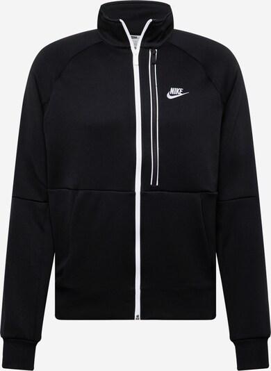 Hanorac 'Tribute' Nike Sportswear pe negru / alb, Vizualizare produs